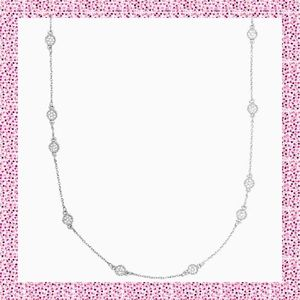 Kate Spade Silver Gatsby Dot Mini Scatter Necklace